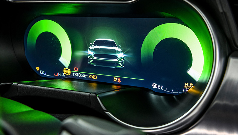 Mustang Bullitt interior touch screen dashboard